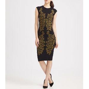 Alexander McQueen Ivy Leaf Jacquard Knit Dress